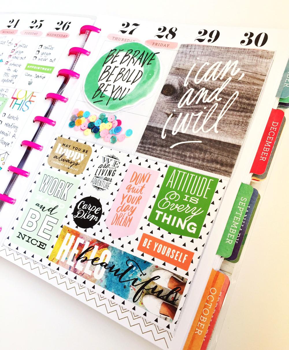 The happy planner half planner half pocket page me for Planner decorating blogs
