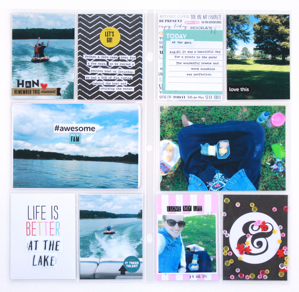 'Life is Better at the Lake' summer memories POCKET PAGES™ by mambi Design Team member Heather Adams | me & my BIG ideas