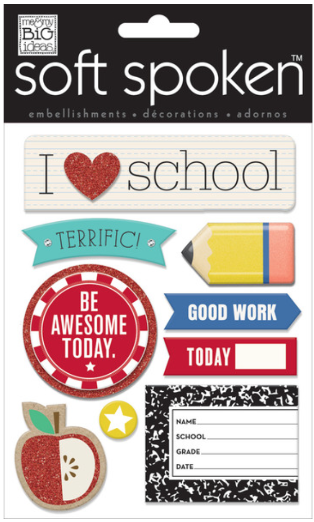 'I Heart School' SOFT SPOKEN™ stickers | me & my BIG ideas