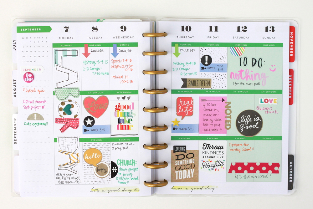 Labor Day weekin The Happy Planner™ of mambi Design Team member Heather Adams | me & my BIG ideas
