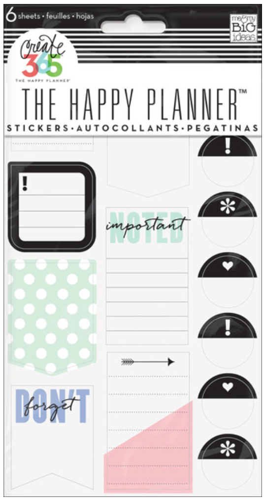 'Don't Forget' stickers for Create 365™ The Happy Planner™ | me & my BIG ideas