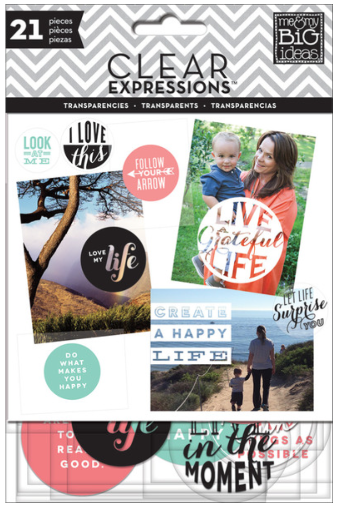 'Create a Happy Life' ClearExpressions tranparencys | me & my BIG ideas