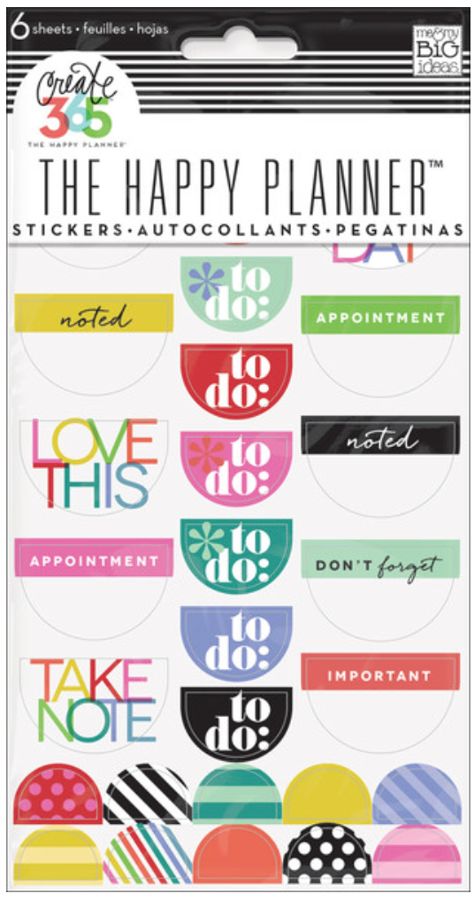 'Bright' To Do sticker pad for Create 365™ The Happy Planner™ | me & my BIG ideas