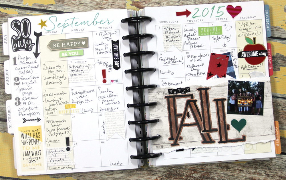 September monthly view in The Happy Planner™ of mambi Design Team member Candi Billman | me & my BIG ideas