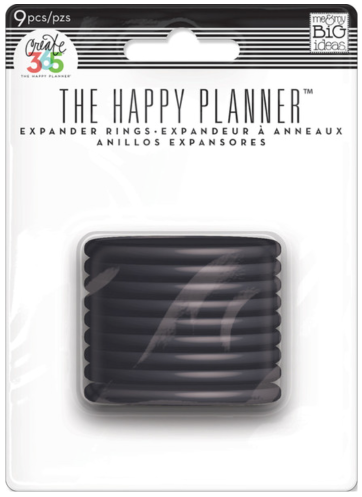 Black Expander Rings for Cretae 365™ The Happy Planner™ | me & my BIG ideas