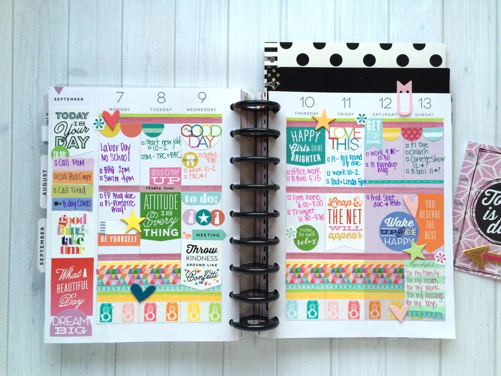 The happy planner colorful sept week me my big ideas for Happy planner ideas