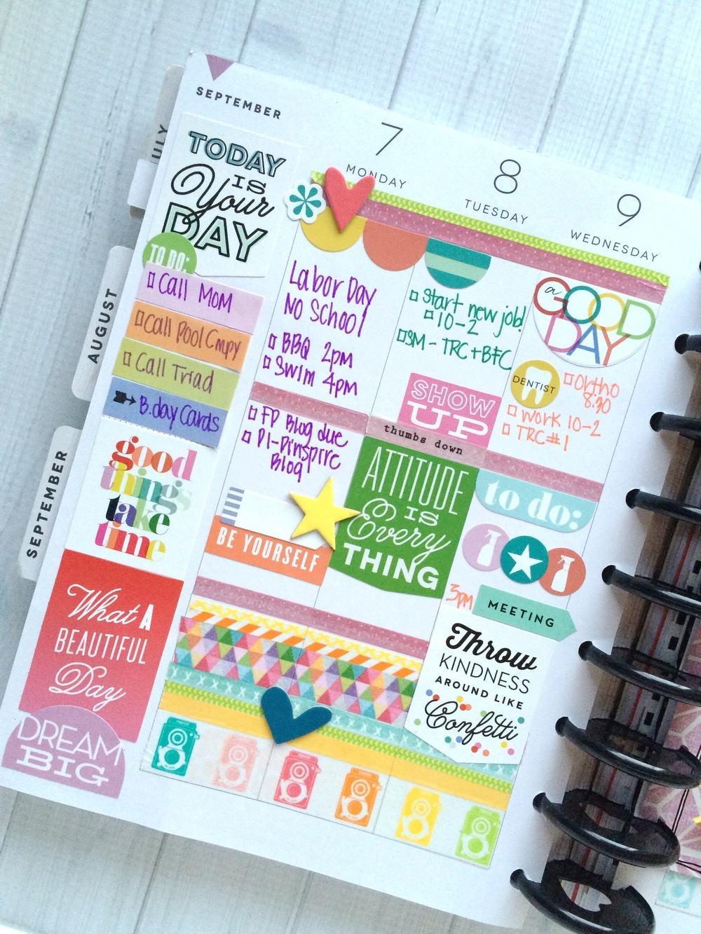 The happy planner colorful sept week me my big ideas for Me my big ideas planner