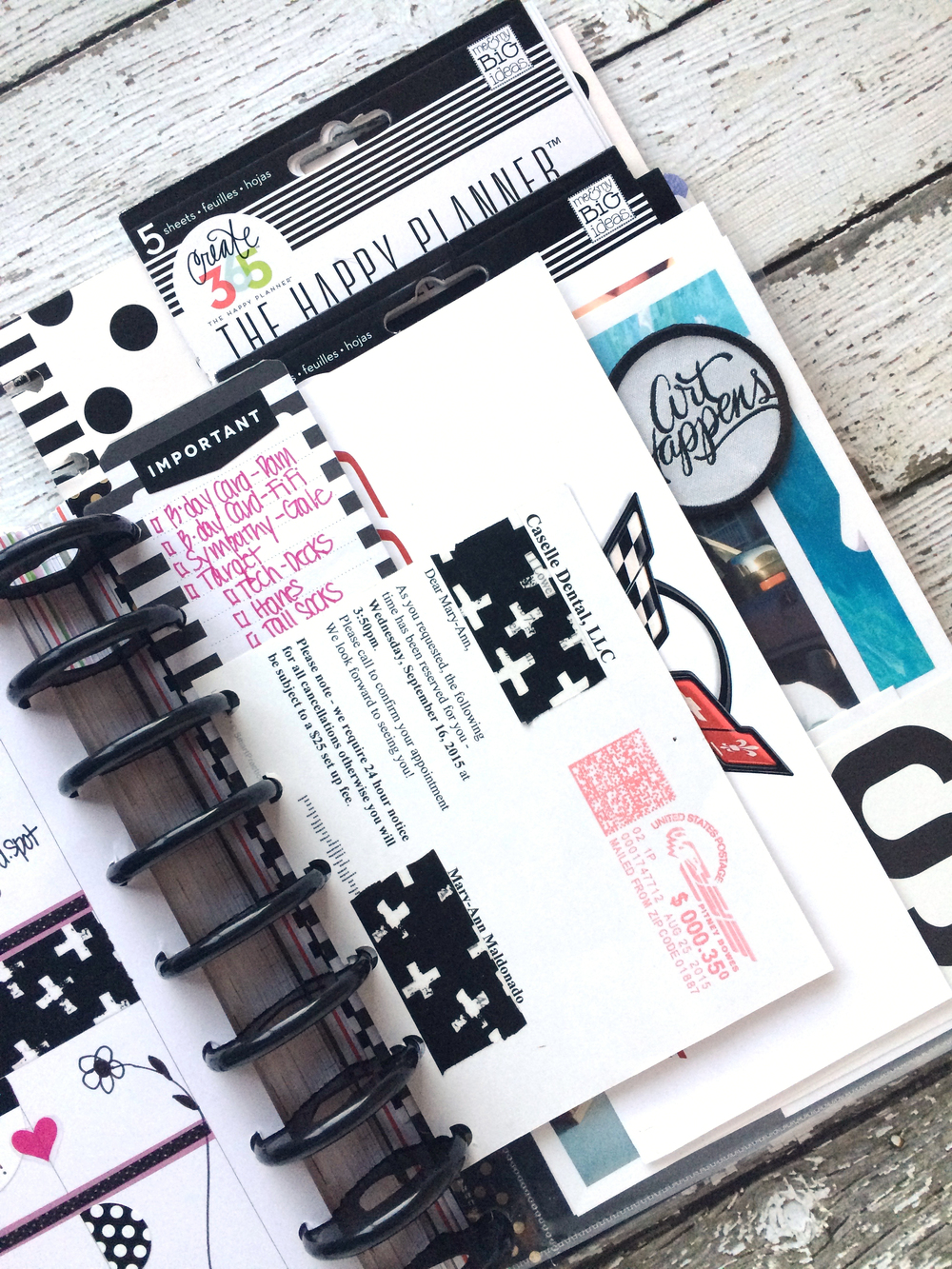 Black & White week in The Happy Planner™ of mambi Deisgn Team member Mary-Ann Maldonado | me & my BIG ideas