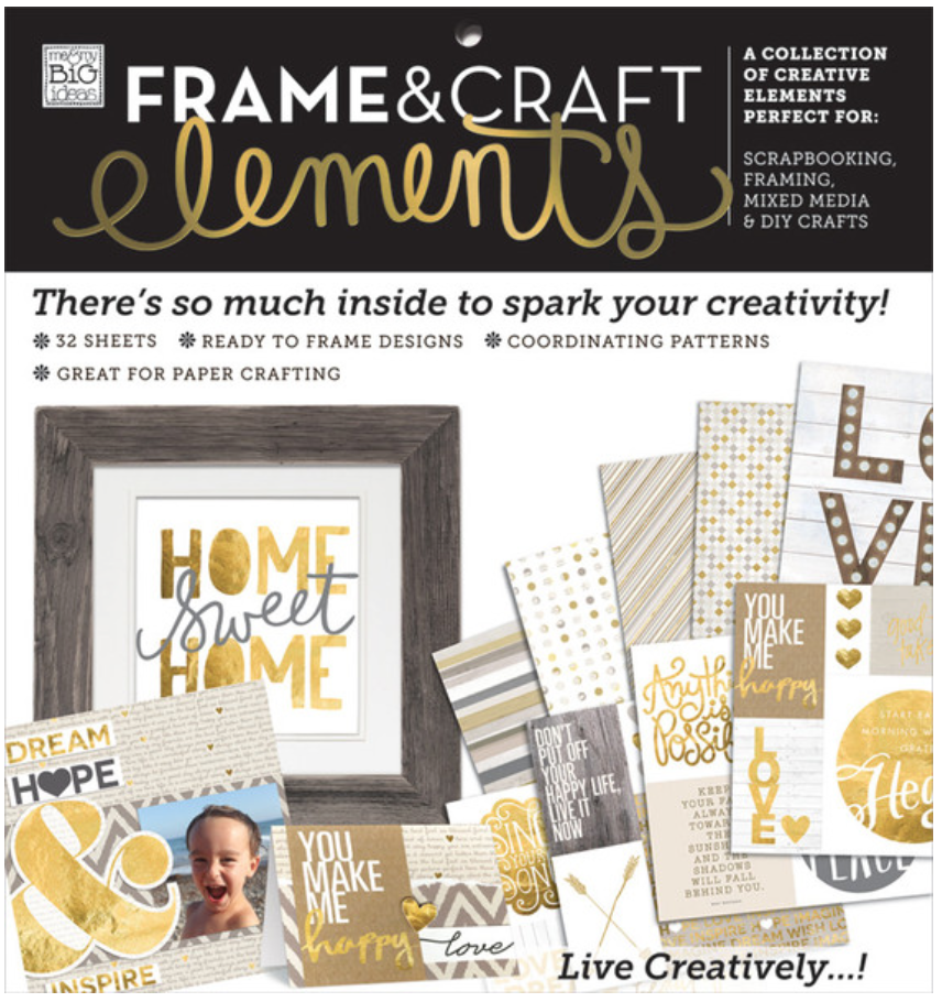 'Home Sweet Home' Frame & Craft Elements 12x12 paper pad | me & my BIG ideas