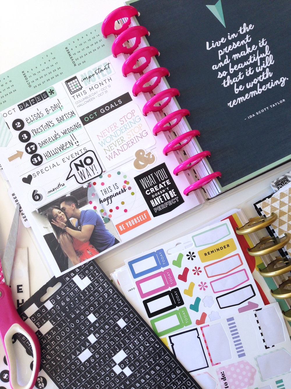 prepping for October in The Happy Planner of mambi Social Media Coorindator Amanda Zampelli | me & my BIG ideas