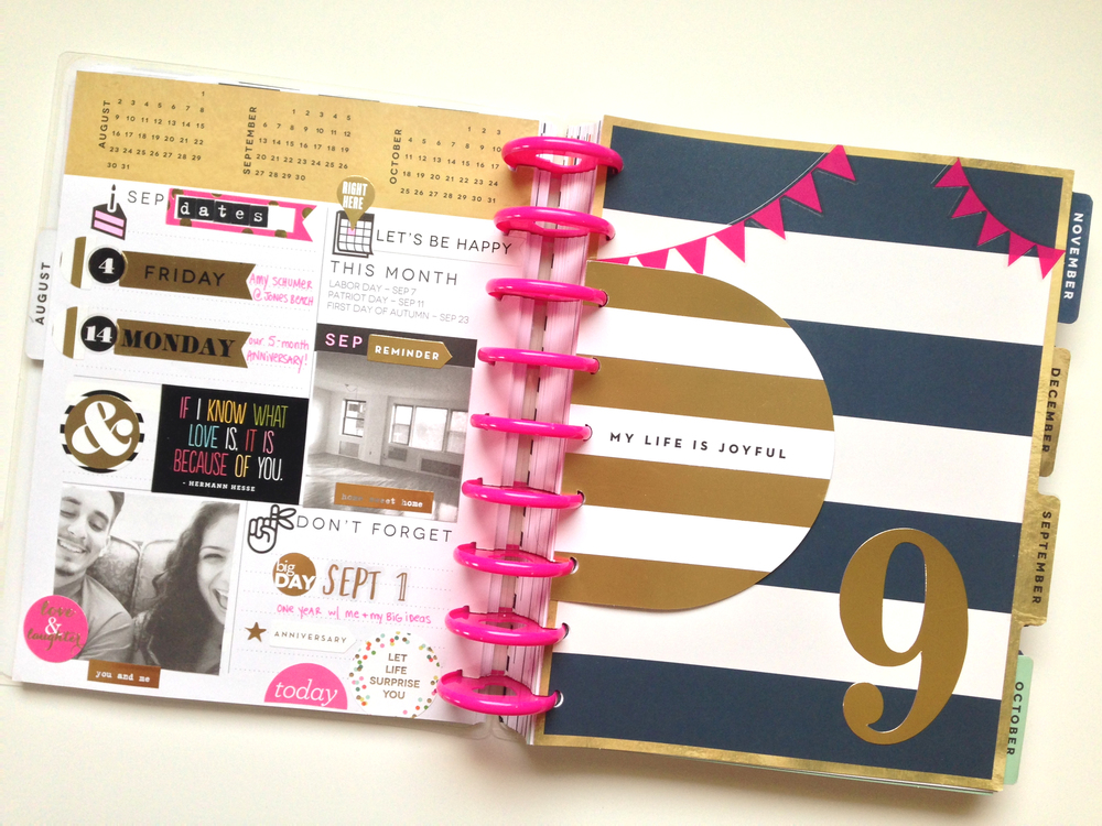 prepping for SEPTEMBER in The Happy Planner of mambi Social Media Coorindator Amanda Zampelli | me & my BIG ideas