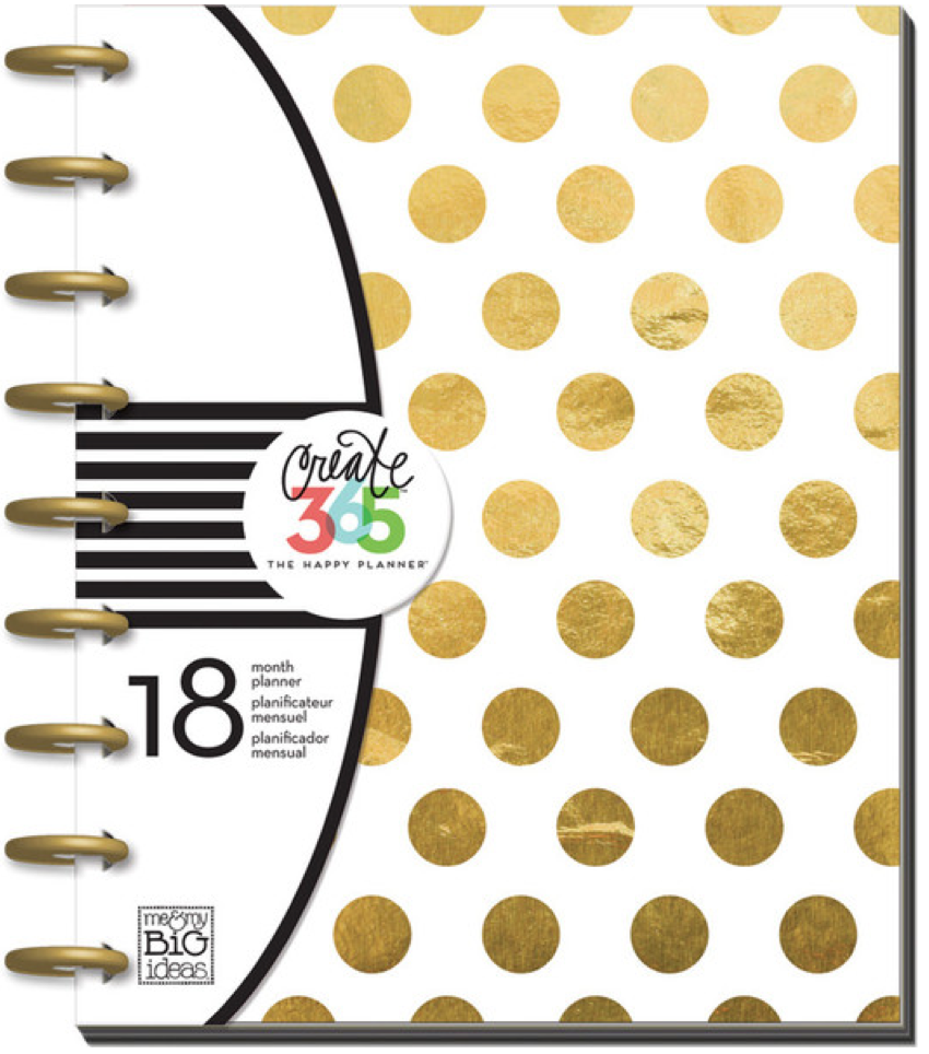 2015 - 2016 Gold Foil Dots Happy Planner™ | me & my Big ideas