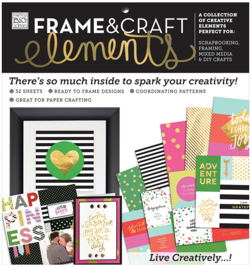 'Big City Brights' Frame&Craft Elements 12x12 paper pad | me & my BIG ideas