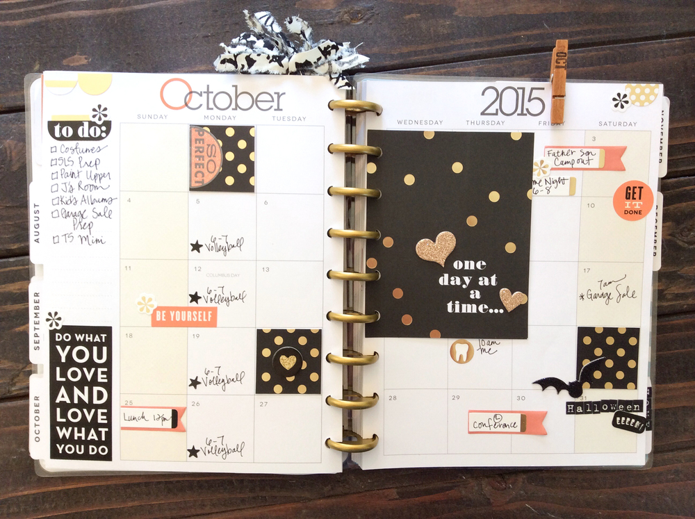 planning for October in The Happy Planner™ of mambi Design Team member Jen Randall | me & my BIG ideas