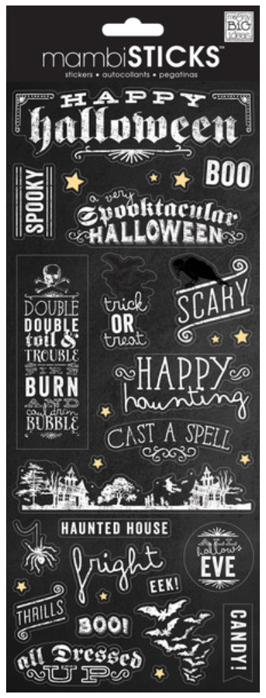 'Happy Halloween' mambiSTICKS chalkboard stickers | me & my BIG ideas
