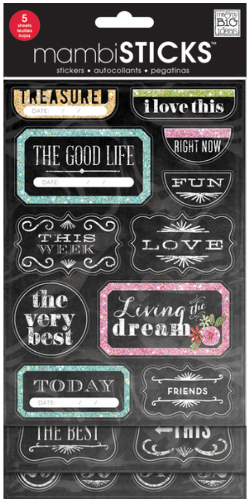 'The Good Life' mambiSTICKS chalkboard sticker pack | me & my BIG ideas