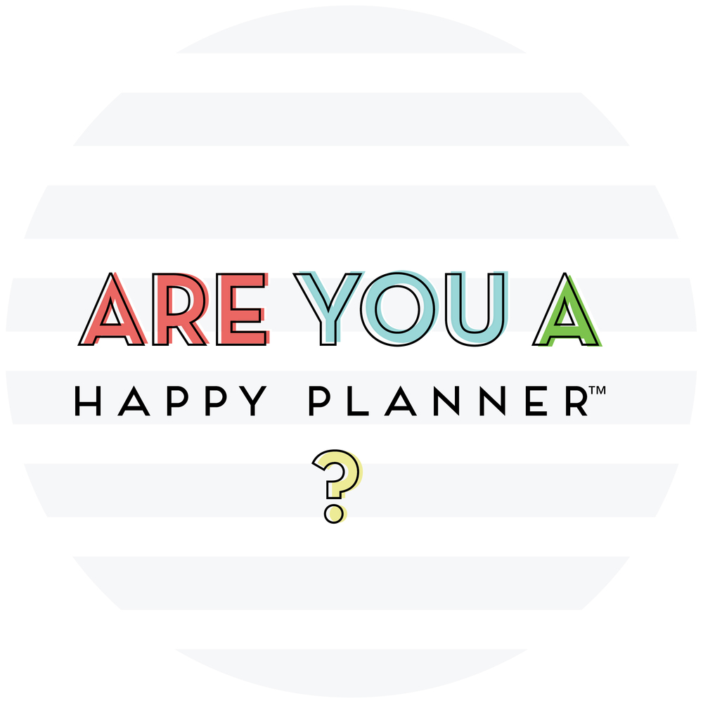 'Are You a Happy Planner?' button for the 'I Am a Happy Planner' blog series | me & my BIG ideas