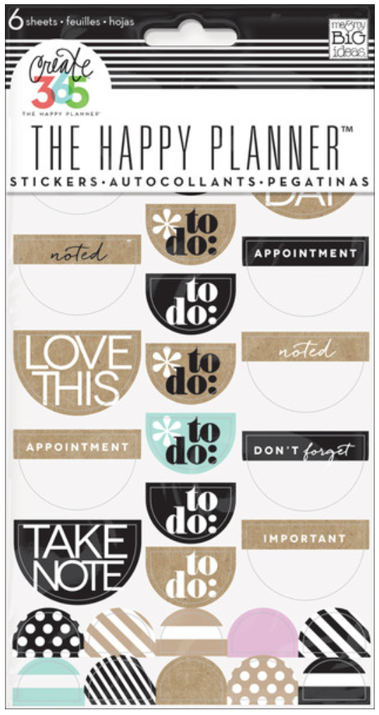 Neutral 'To Do' stickers for Create 365™ The Happy Planner™ | me & my BIG ideas