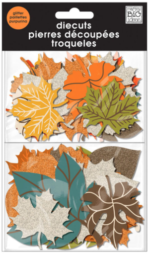 Glitter 'Fall Leaves' die cuts | me & my BIG ideas