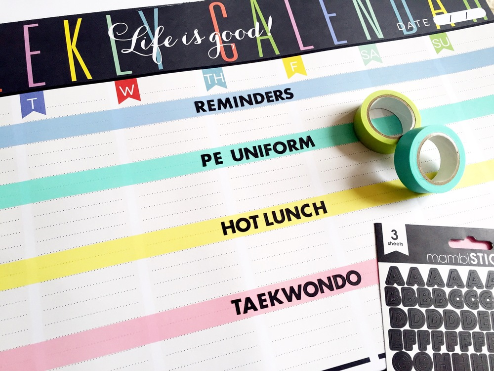 laminated Weekly Planner Pad for reminders by mambi Design Team member Theresa Doan | me & my BIG ideas