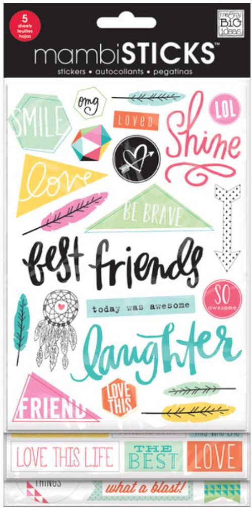 'Best Friends' mambiSTICKS sticker pack | me & my BIG ideas