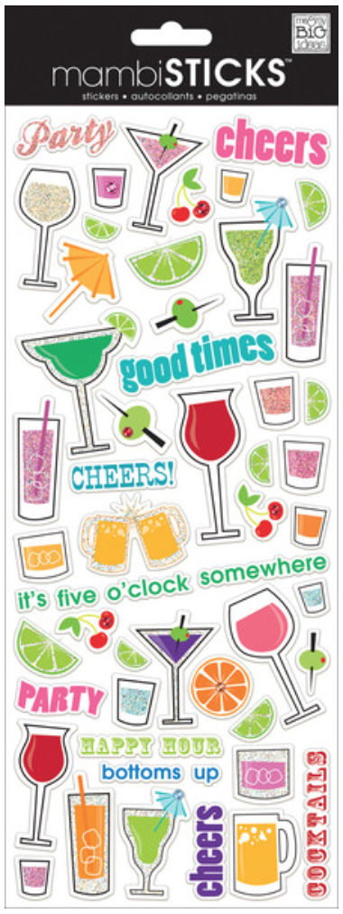 'Cocktails' mambiSTICKS stickers | me & my BIG ideas