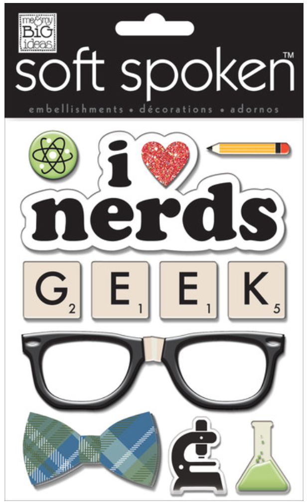 'I Love Nerds' SOFT SPOKEN™ stickers | me & my BIG ideas