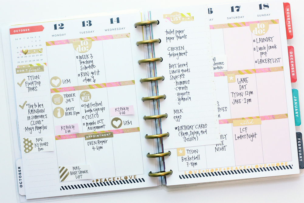 a golden October week in The Happy Planner™ of mambi Design Team member April Orr | me & my BIG ideas
