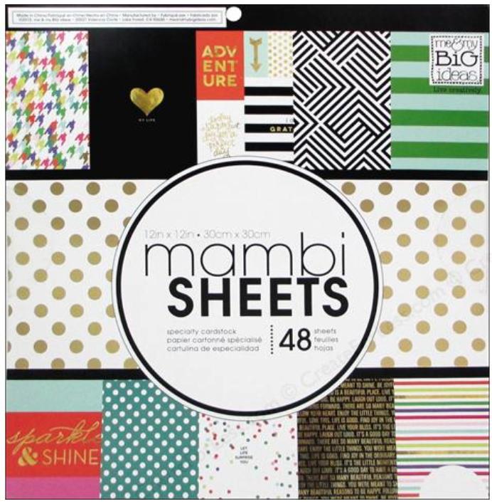 'Big City Brights' 12x12 mambiSHEETS paper pad | me & my BIG ideas