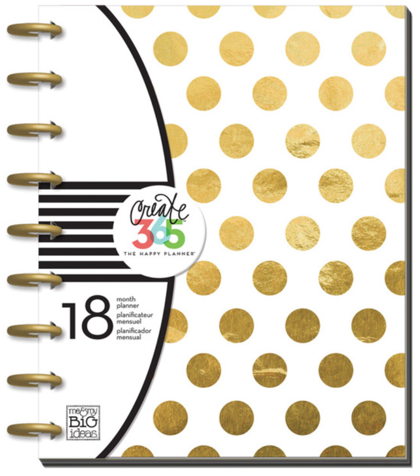 2015-2016 'Gold Foil Dots' Happy Planner™ | me & my BIG ideas