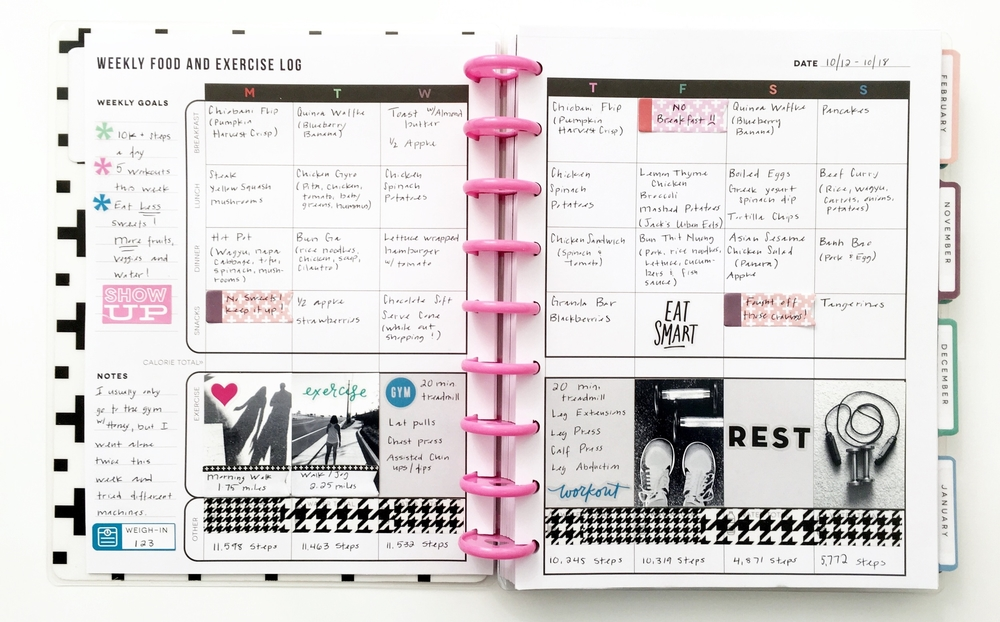 Fitness planner box kit write it all down me my big for Create planner online