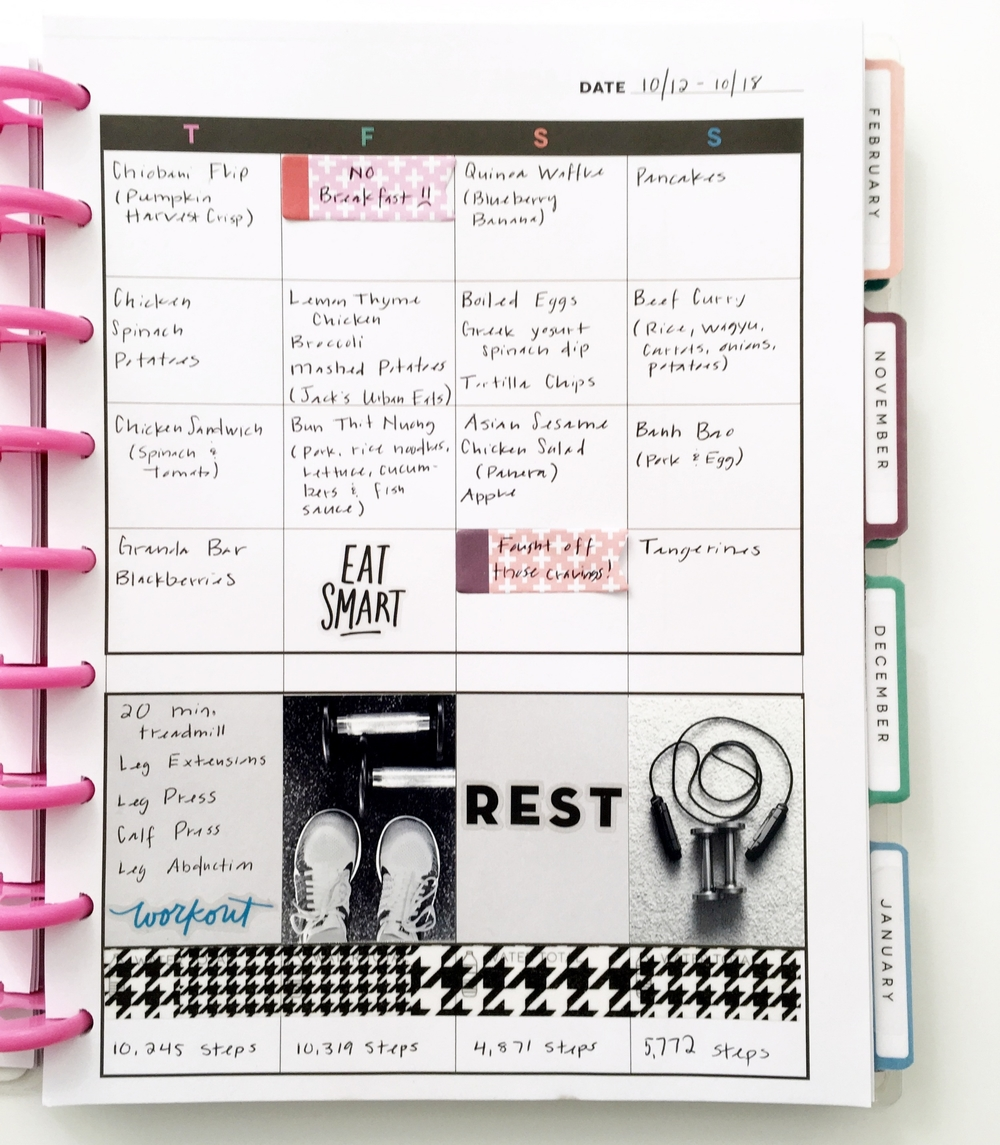 the first week in mambi Design Team member Theresa Doan's Happy Planner™ Fitness Planner | me & my BIG ideas