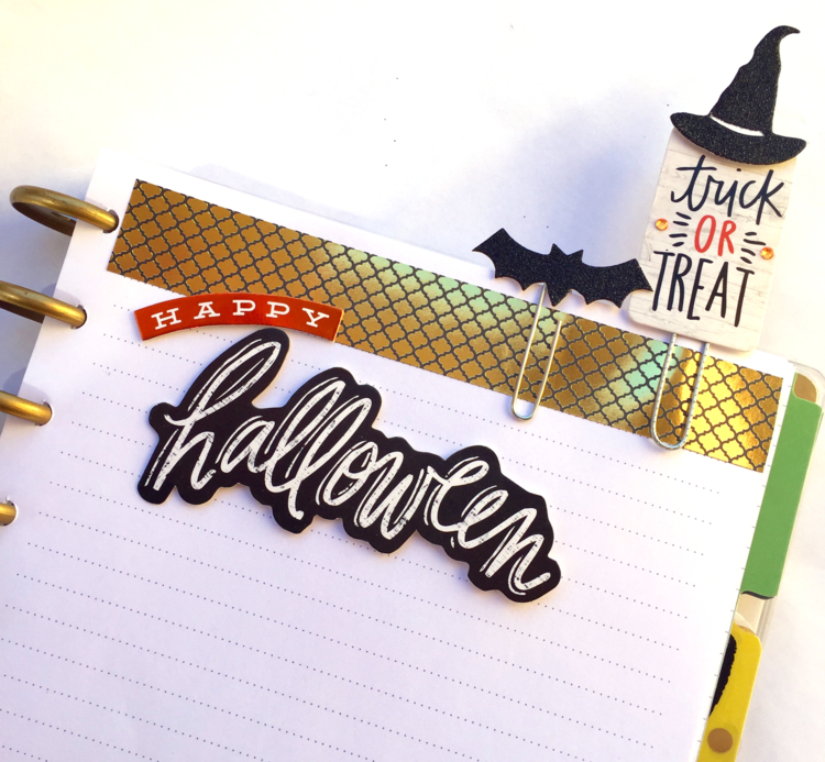 DIY Halloween paper clips created by mambi Deisgn Team member Casie Gutierrez to include in her Happy Planner™ | me & my BIG ideas