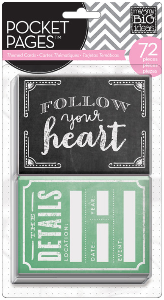 'Follow Your Heart' POCKET PAGES™ pack | me & my BIG ideas
