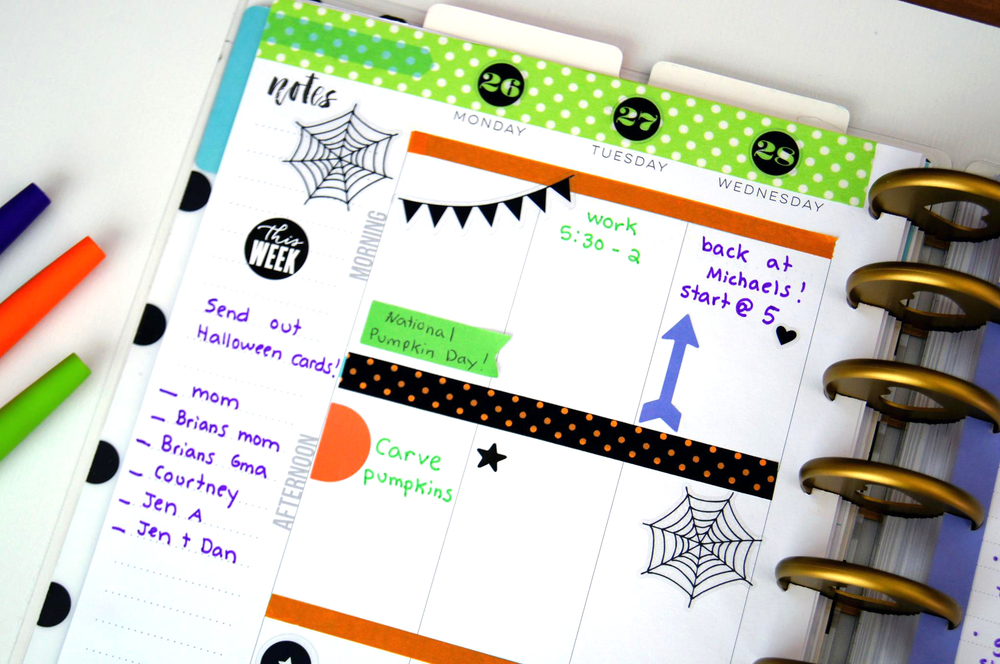 the week of Halloween in The Happy Planner™ of mambi Design Team member Megan McKenna | me & my BIG ideas