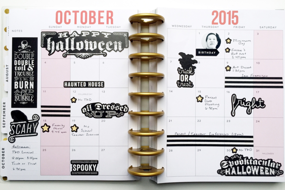 'Halloween' October monthly spread