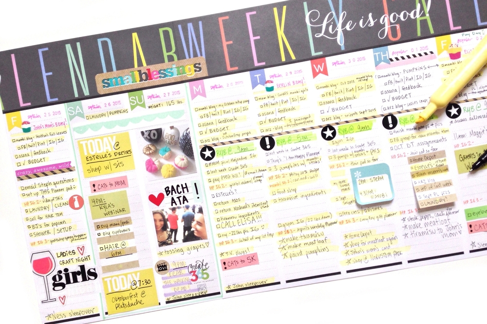 two weeks of the Weekly Planner Pad