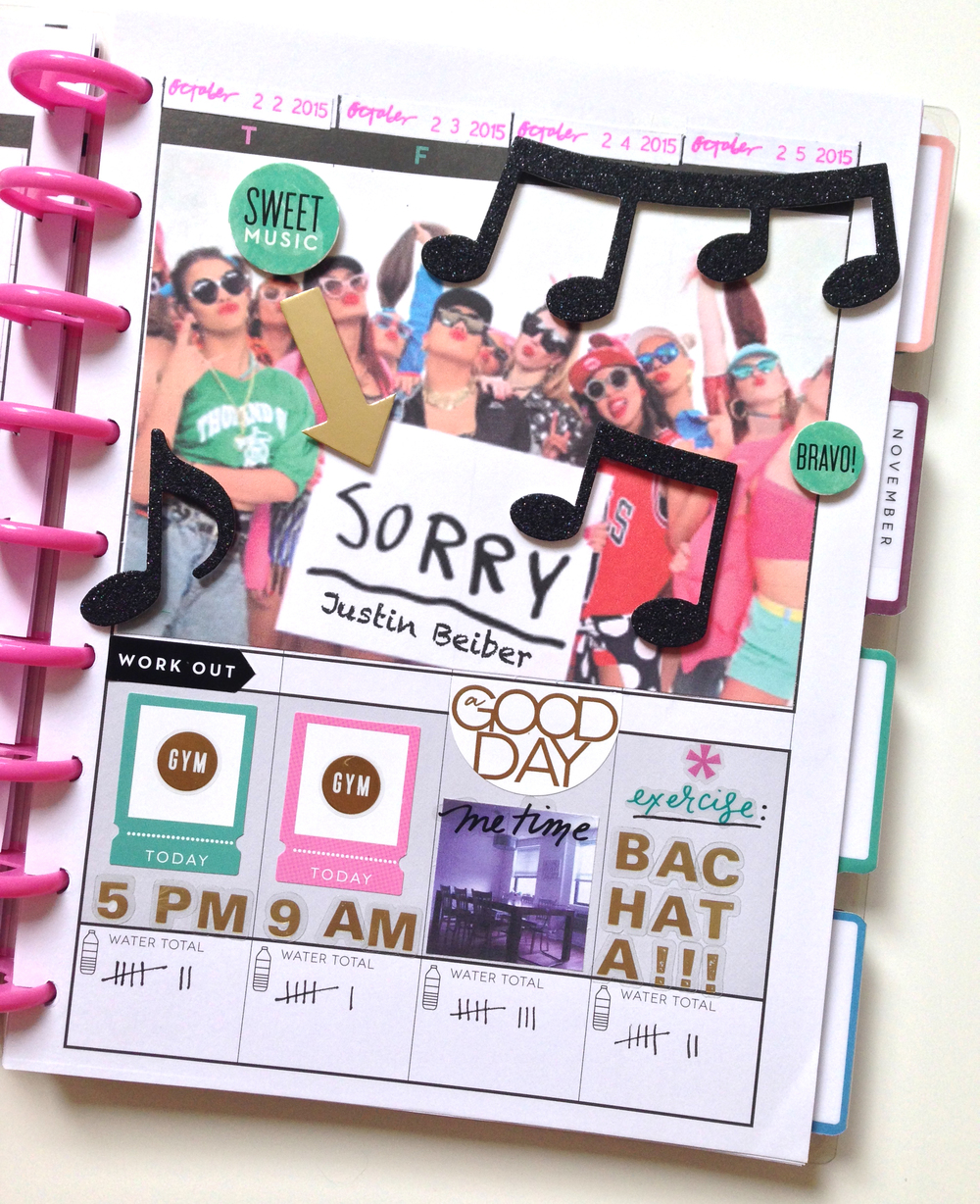 mambi Social Media Coordinator Amanda Rose Zampelli's setup of The Happy Planner™ Fitness Planner | me & my BIG ideas