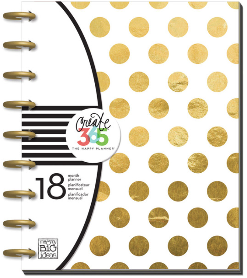 2015-2016 Gold Foil Dots Happy Planner™ | me & my BIG ideas