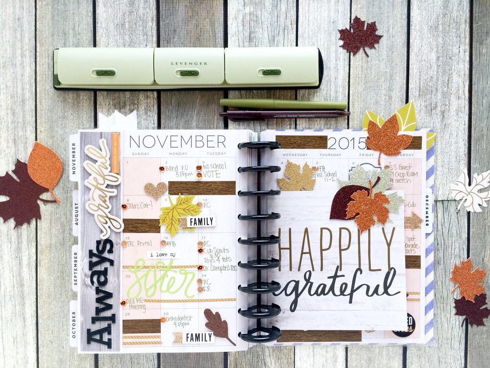 The happy planner happily grateful me my big ideas for Planners anonymous