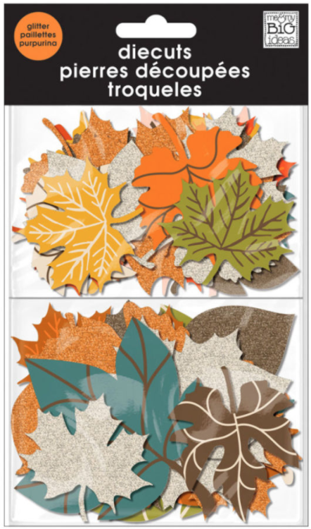 glitter Fall Leaves diecuts | me & my BIG ideas