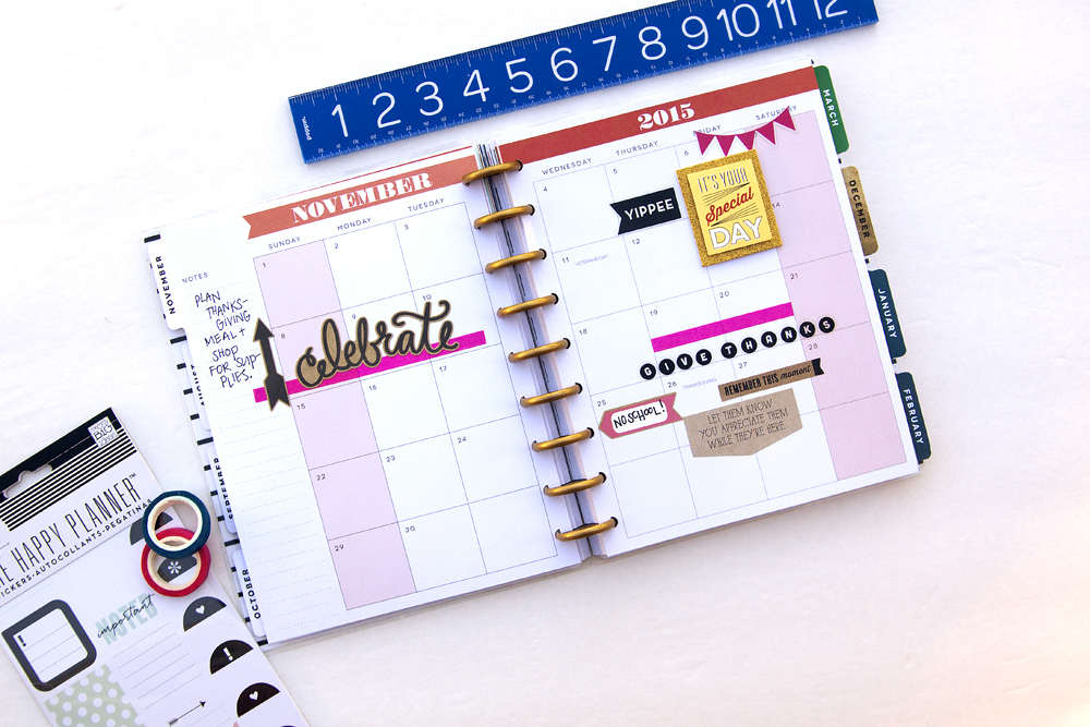 November in The Happy Planner™ of mambi Design Team member Jennie McGarvey | me & my BIG ideas