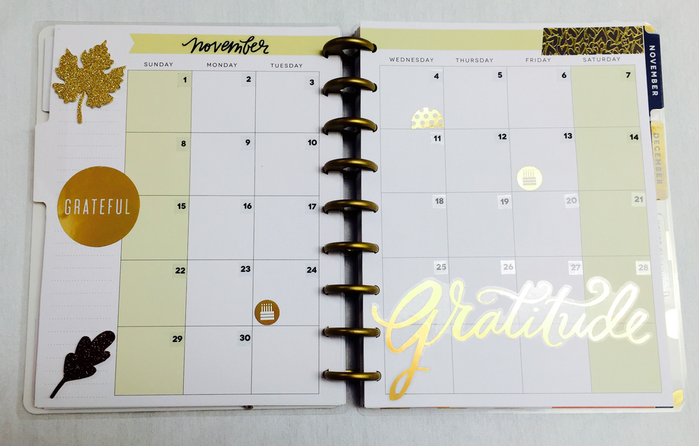 November in The Happy Planner™ of mambi Design Team member Casie Gutierrez | me & my BIG ideas