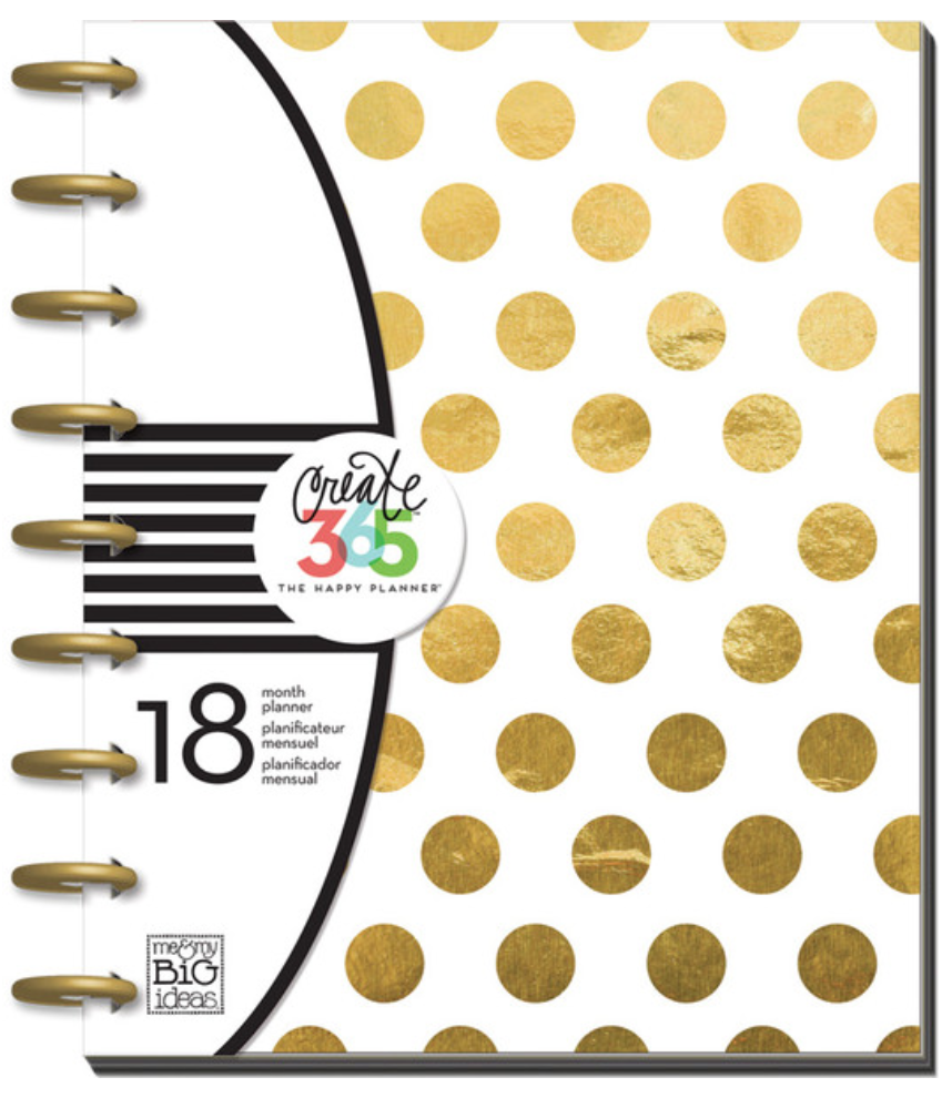 2015-2016 Gold Foil Happy Planner™ | me & my BIG ideas