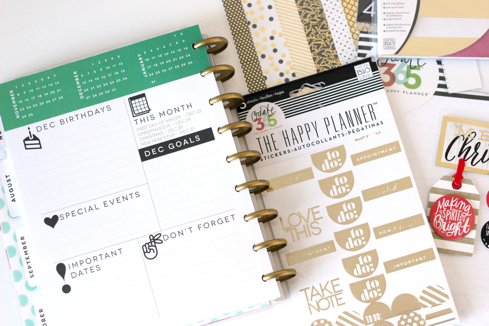 December Prep in The Happy Planner™ of mambi Design Team member Thuy Bui | me & my BIG ideas