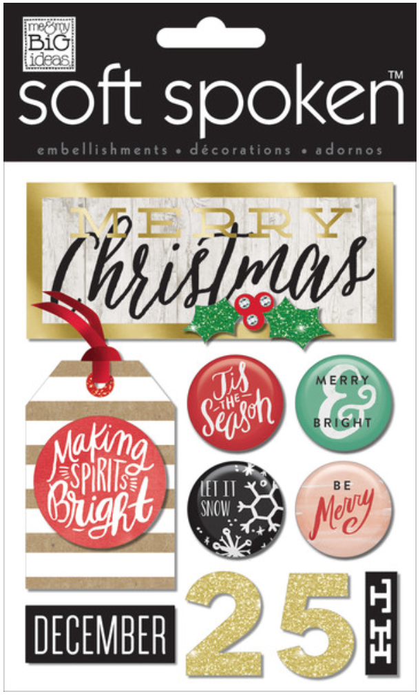'Making Spirits Bright' SOFT SPOKEN™ Christmas stickers | me & my BIG ideas