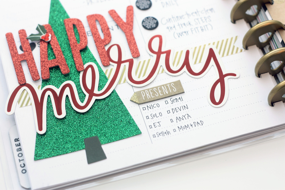 December dashboard page in The Happy Planner™ of mambi Design Team member April Orr | me & my BIG ideas