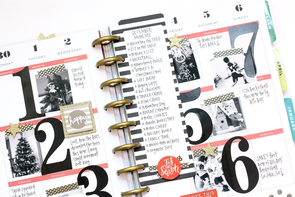 December memories in The Happy Planner™ of mambi Design Team member April Orr | me &  my BIG ideas