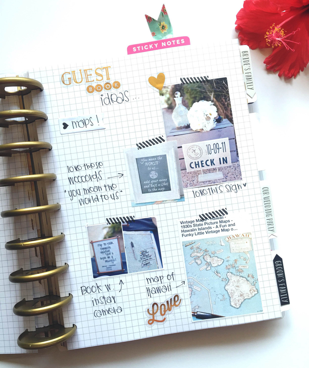 planning your wedding in your Happy Planner™ by mambi Design Team member Chantal Stevens | me & my BIG ideas