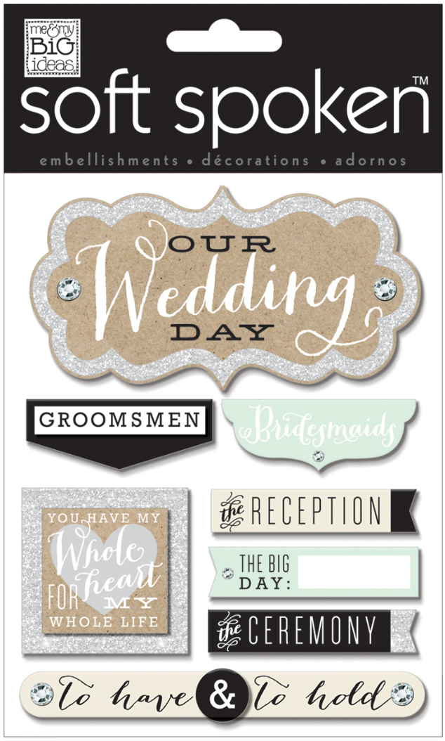 'Whole Heart Wedding' SOFT SPOKEN™ dimension Wedding stickers | me & my BIG ideas